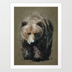 Bear background Art Print