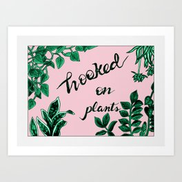Hooked On Plants In Pink Art Print