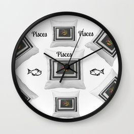 Loving Those Pisces by Sherri's of Palm Springs Wall Clock