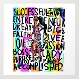 BOSS CHIC Art Print