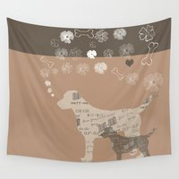 labrador Wall Tapestries featuring Labrador dogs by My Studio