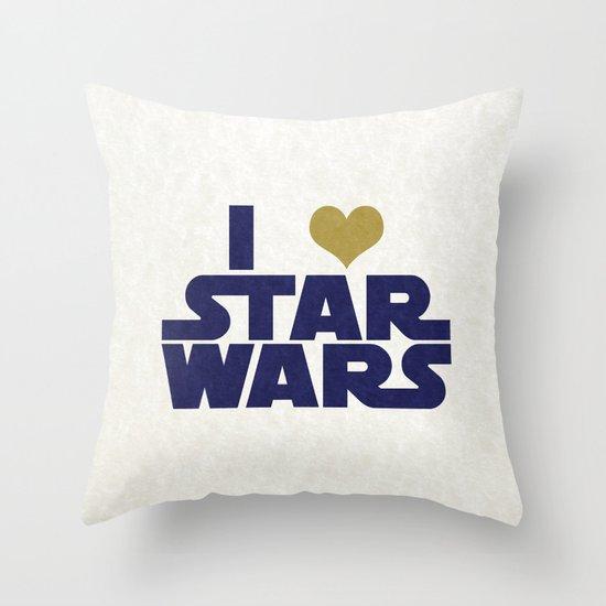 I Love Star Wars Throw Pillow