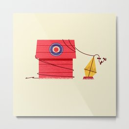 The Red Baron or Snoopy's Doghouse Metal Print