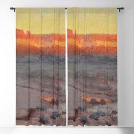 Dowa Yalanne Mesa (Thunder Mountain) Zuni Pueblo, New Mexico by William R. Leigh Blackout Curtain