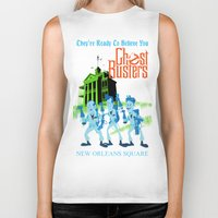 ghostbusters Biker Tanks featuring Hitchhiking Ghostbusters by Sam Carter AKA Cartarsauce