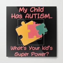 Proud Autism Mom Autism Awareness Day 2021 Metal Print