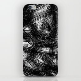 Abstract black white Design iPhone Skin
