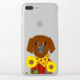 Dog Nature Lover Clear iPhone Case