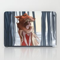 red riding hood iPad Cases featuring The red riding hood by LaurenceBaldetti