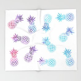 Pineapple Paradise Pattern Throw Blanket
