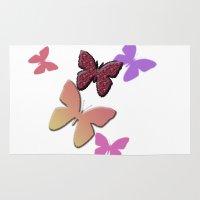 butterflies Area & Throw Rugs featuring Butterflies by Judith Lee Folde Photography & Art