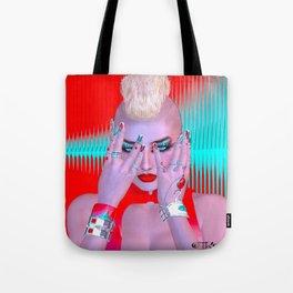 Cyber Punk Tote Bag