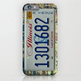 Illinois Truck Tag Land of Lincoln License Plate Automotive B Truck iPhone Case