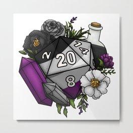 Pride Asexual D20 Tabletop RPG Gaming Dice Metal Print