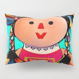Mexican Maria Doll (turquoise) Pillow Sham