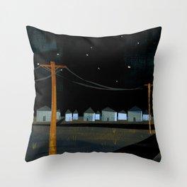 Night Landscape Throw Pillow