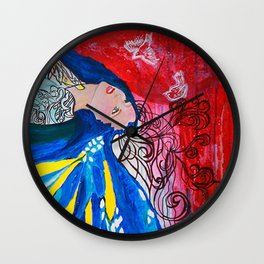 Deep #society6 #decor #buyart Wall Clock