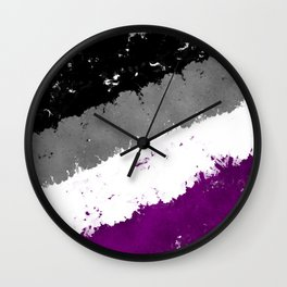 Splatter YOUR Colors - Ace Pride Wall Clock