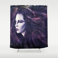 storm Shower Curtains featuring Storm by Spoken in Red