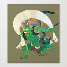 polygonal representation of Fūjin (japanese god of wind) Canvas Print