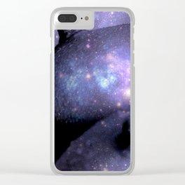 Galaxy Breasts / Galaxy Boobs Purple Clear iPhone Case