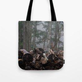 Log Pile Tote Bag