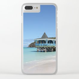 Tropical Paradise Pier on Antigua Clear iPhone Case