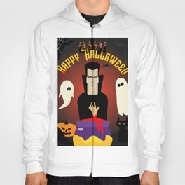Scary Dracula and his Halloween Private Party Hoody