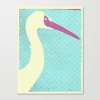 crane Canvas Prints featuring Crane by Cole Lindsey Blotcky