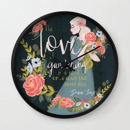 The Love of Gardening Wall Clock