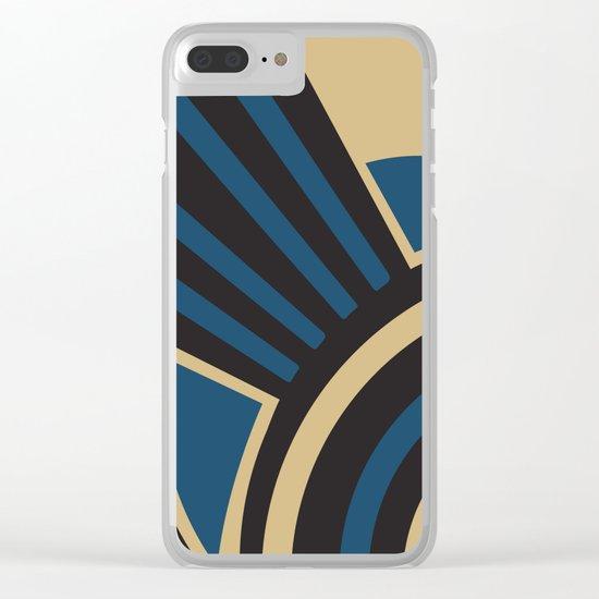 Art Deco Beautiful Life In Blue Clear iPhone Case