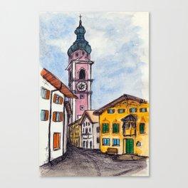 Kastelruth Castelrotto, Italy Canvas Print