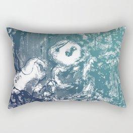 Inky Shadows - Blue edition Rectangular Pillow