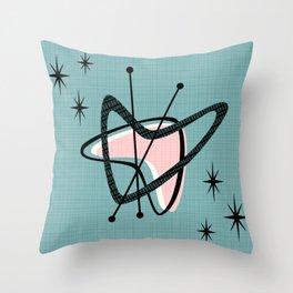 Atomic Boomerangs & Starbursts III Throw Pillow
