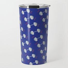 Barbell Pop Blue + Orange Travel Mug