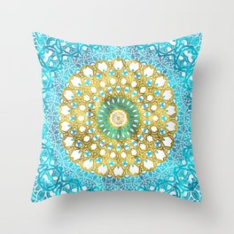 Mandala Gold Spring Throw Pillow