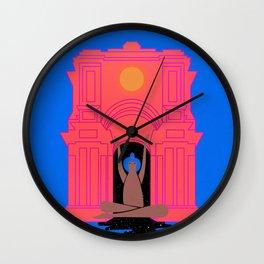 moon goddess illustration Wall Clock