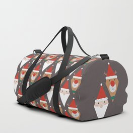 Santa and Rudolph II (Patterns Please) Duffle Bag