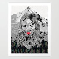 cara Art Prints featuring Cara by Veronique de Jong