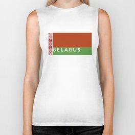 belarus country flag name text Biker Tank