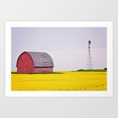 Calgary Barn Landscape Art Print