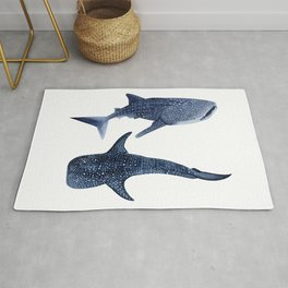 TWO WHALE SHARK Rug