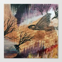 literary Canvas Prints featuring Literary Flying Fish by Sarah Sutherland