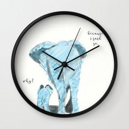 Mama elephant Wall Clock
