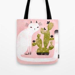 CAT & CACTUS Tote Bag