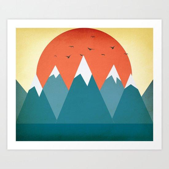 Today dusk Art Print