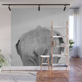 Elephant Tail - Black & White Wall Mural