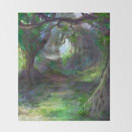 Elven Forest Throw Blanket
