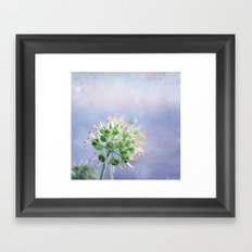 walking on sunday Framed Art Print