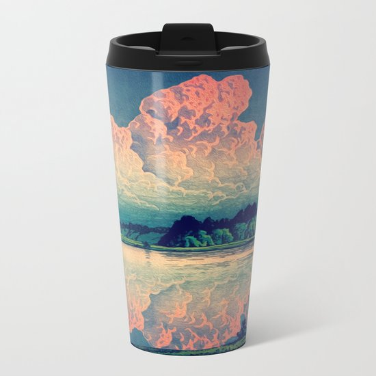 Admiring the Clouds in Kono Metal Travel Mug